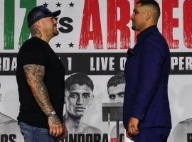 Andy Ruiz Jr. (left) will take on journeyman Chris Arreola (right) in a pay-per-view heavyweight boxing match on Saturday night. (Image: Michael Ham/TGB Promotions)
