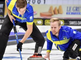 Sweden earned the overall top seed at the World Men's Curling Championship, and will enter the playoffs as the favorite to win the tournament. (Image: Getty)