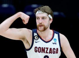 Drew Timme, sophomore big man from Gonzaga, is one of the Zags' top two scorers during March Madness coming into the Final Four. (Image: Bella Salinger/Getty)