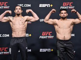 Robert Whittaker and Kelvin Gastelum will face off in a middleweight bout for the main event of UFC on ESPN 22. (Image: Chris Unger/Zuffa)