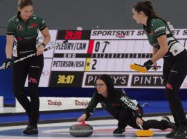 Team Einarson will represent Canada at the World Women's Curling Championship, and comes in as the clear favorite in the tournament. (Image: Mike Cleasby/Grand Slam of Curling)