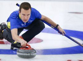 Brendan Bottcher will skip the Canadian team at the Men's World Curling Championship in Calgary, beginning on Friday, April 2. (Image: Jeff McIntosh/CP)