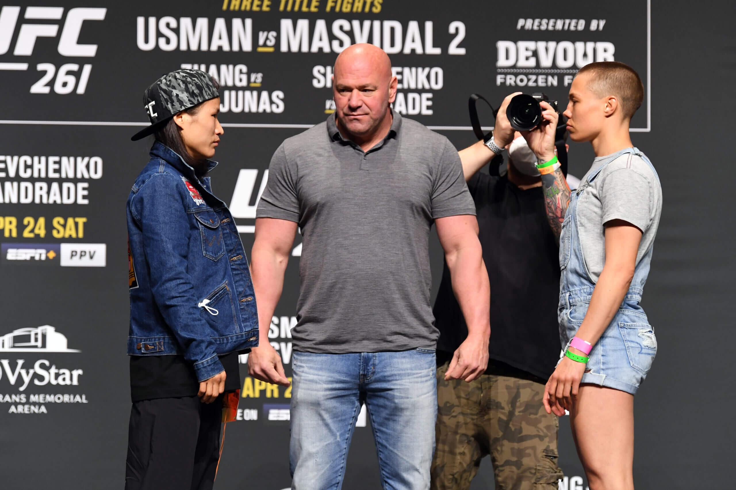 Zhang Namajunas odds UFC 261