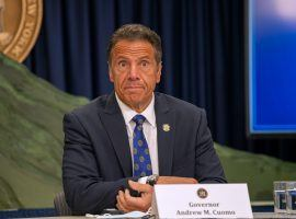 New York Gov. Andrew Cuomo and legislative leaders announced a fiscal year 2022 budget on Tuesday that includes a plan for online sports betting. (Image: Vanity Fair)