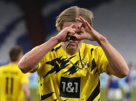 Erling Haaland sends his love to Borussia Dortmund's fans after a game (Source: @ErlingHaaland - Twitter)