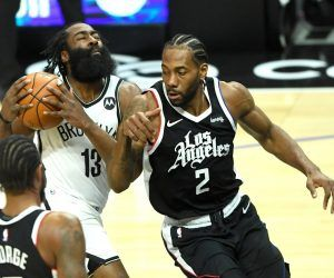 Kahi Leonard James Harden Injury Report Update LA Clippers Brooklyn Nets hamstring