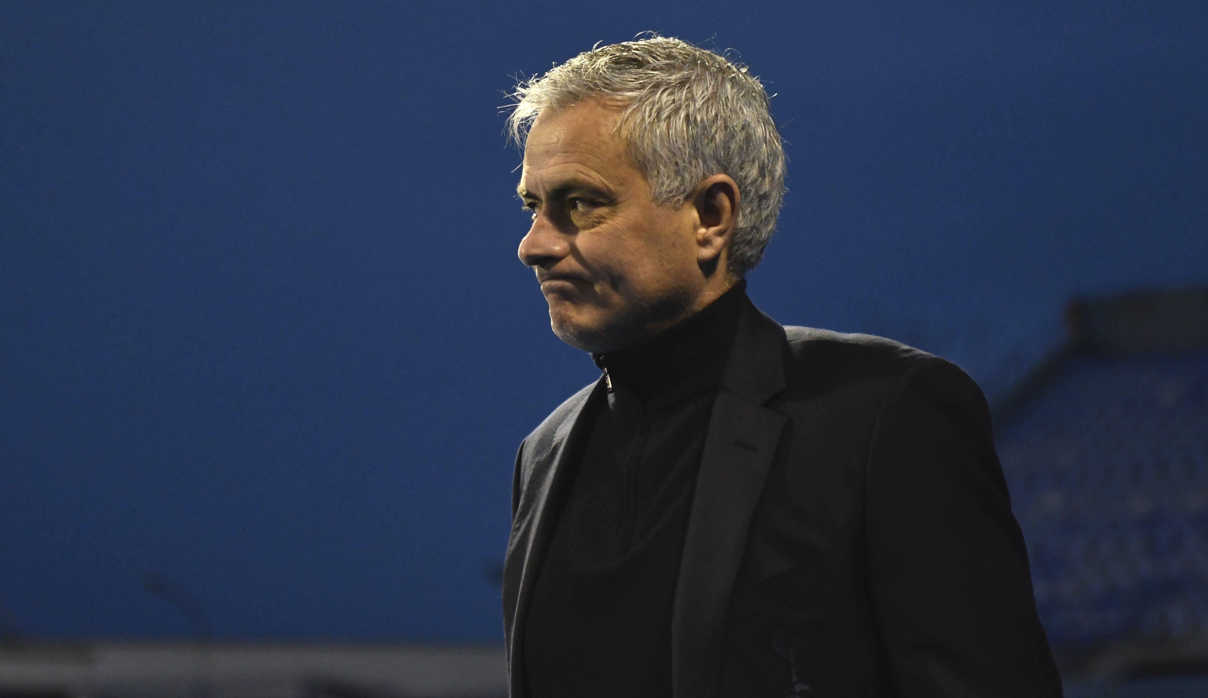 Jose Mourinho sad