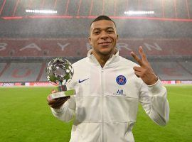 Mbappe gets rewarded for being the best player on the pitch in PSG's 3-2 win over Bayern in Munich (Photo: UEFA)