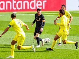 Leo Messi in action for FC Barcelona against Villarreal in the Spanish La Liga. (Image: Twitter / @FCBarcelona)