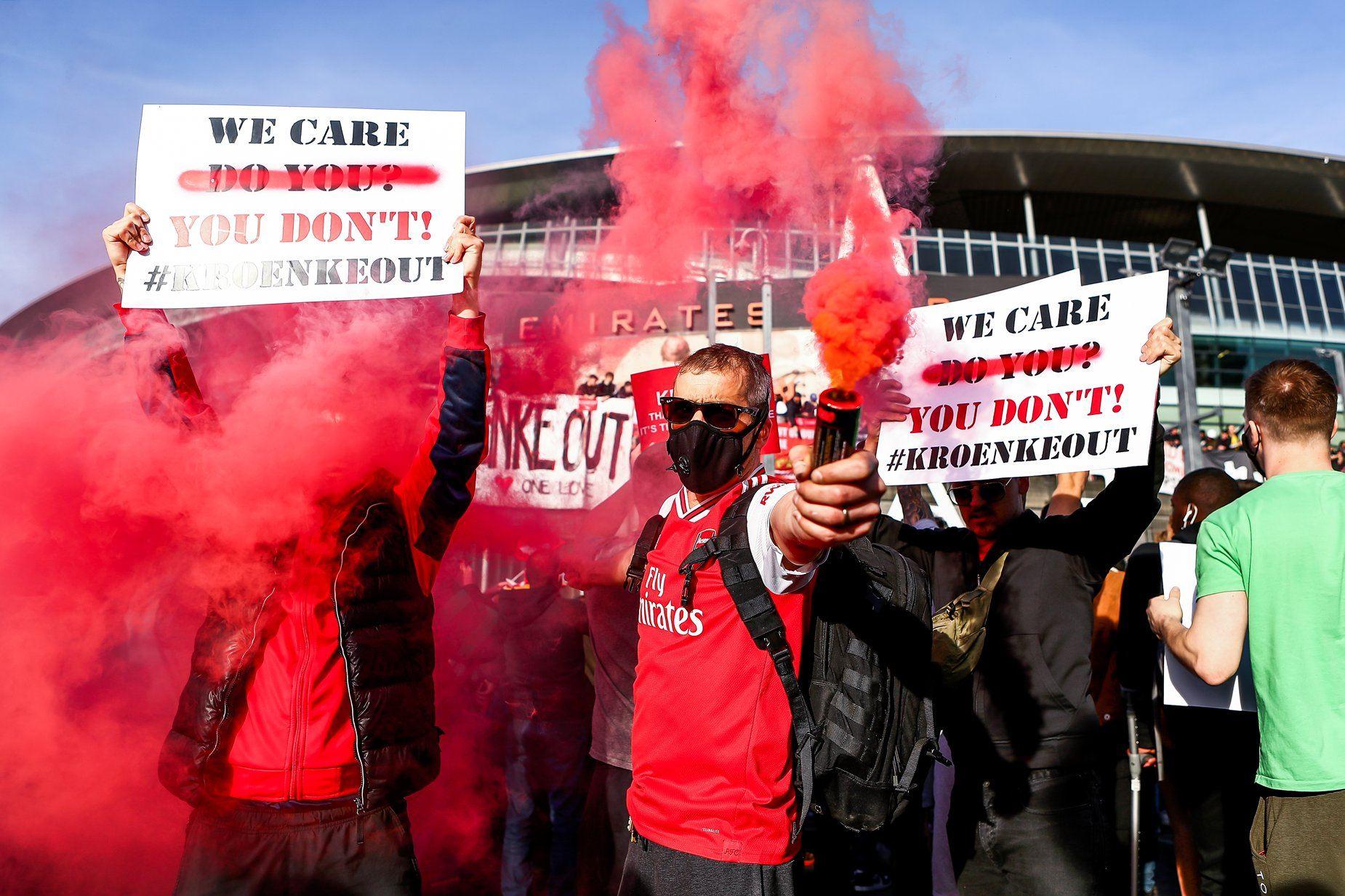 protest arsenal super league