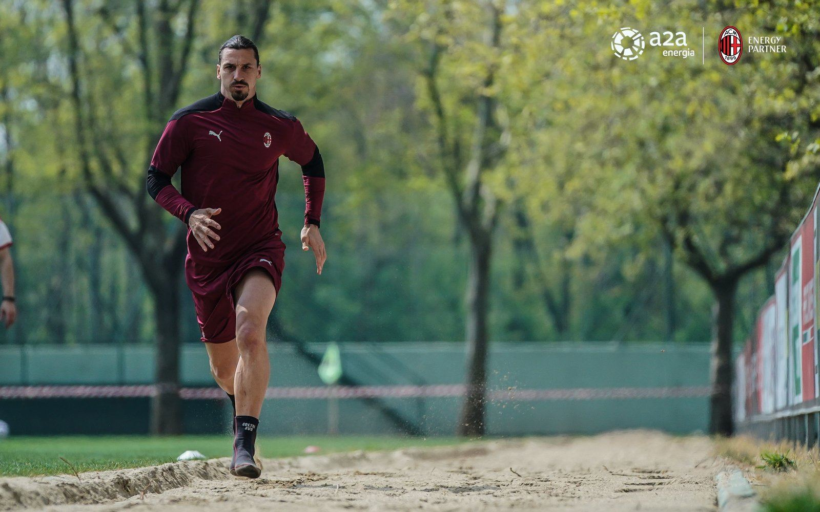 Zlatan Ibrahimovic training