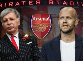 Daniel Ek (right) wishes to become the owner of Arsenal, replacing American billionaire Stan Kroenke (left). (Image: Goal.com)