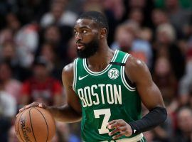 Jaylen Brown, Boston Celtics second-best scorer, will miss the remainder of the season recovering from a wrist injury. (Image: Lynne Sladky/AP)
