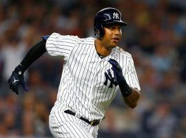 The Yankees could lose center fielder Aaron Hicks to season-ending wrist surgery if he doesn't respond to medication for his tore tendon injury. (Image: Getty)