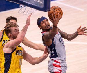 Bradley Beal scoring title NBA injury report hamstring Washington Wizards
