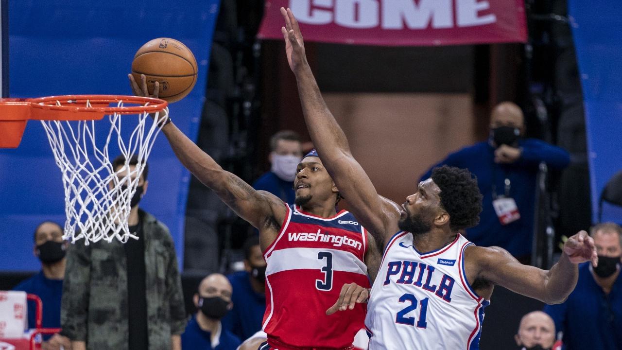 Bradley Beal Joel Embiid Washington Wizards Philadelphia 76ers NBA Playoffs Series 2021