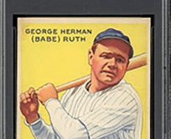 This 1933 Goudey Babe Ruth card graded Mint 9 by PSA could break auction records this summer (Image: Memory Lane Auctions)
