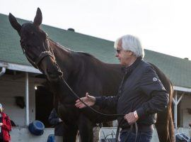 Bob Baffert won't be at Pimlico for Saturday's Preakness Stakes. But Kentucky Derby champion Medina Spirit will be. (Image: FoxNews.com)