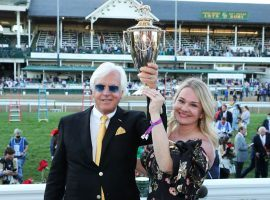 More people watched Bob Baffert lift his seventh Kentucky Derby trophy than watched Oscar winners lift theirs. NBC reported strong viewership for Medina Spirit's Derby upset. (Image: Churchill Downs/Coady Photography)