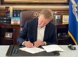 Gov. Ned Lamont signed a Connecticut sports betting bill into law on Thursday, ending a contentious years-long process. (Image: Connecticut Governor's Office)