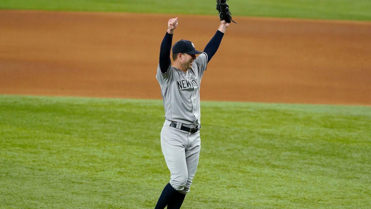 New York NY Yankees Corey Kluber Seri Dunia no-no-no-hitter