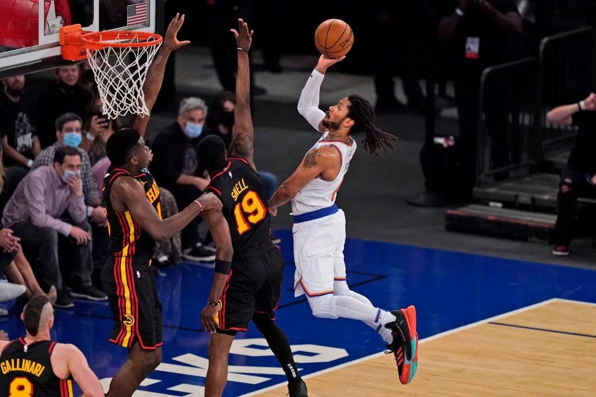 Derrick Rose NY Knicks Atlanta Hawks Game 3 NBA Playoffs