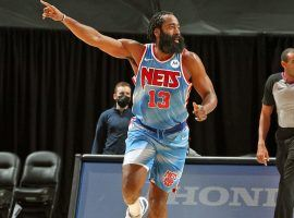 James Harden could return to the Brooklyn Nets in one of their final three games of the regular season after he recovered from a hamstring injury. (Image: Nathaniel S. Butler/AP)