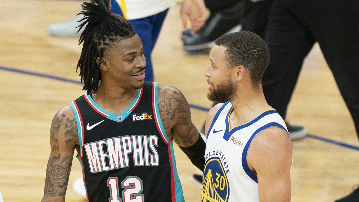 Ja Morant Steph Curry NBA play-in turnamen playoff Golden State Warriors Memphis Grizzlies # 8 unggulan