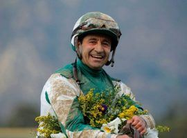 Monmouth Park riding legend Joe Bravo won't go for his 14th Monmouth Park riding title this season. He's boycotting the Jersey Shore track over the state's new riding crop law. (Image: Pat Healy Photography)
