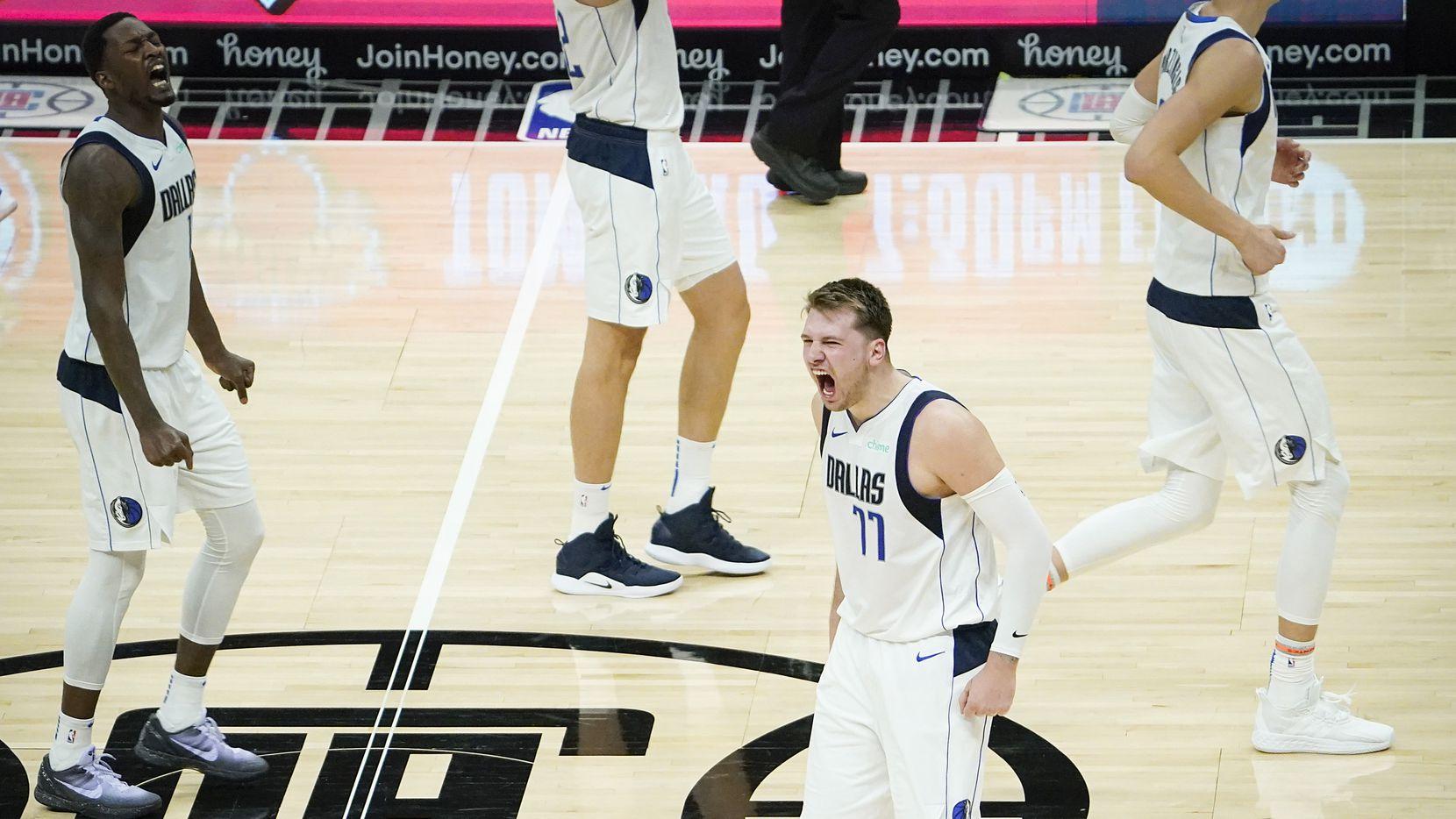 Luka Doncic Dallas Mavericks Mavs LA Clippers Game 3 Playoff NBA