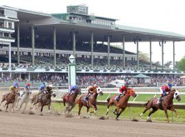 Monmouth Park could offer fixed-odds wagering during its upcoming season if a bill passed in the state assembly makes its way to Gov. Phil Murphy's desk. (Image: Sarah Andrew)