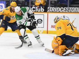 The Nashville Predators can potentially clinch a postseason berth and knock the Dallas Stars out of the NHL playoff race on Wednesday. (Image: Christopher Hanewinckel/USA Today Sports)
