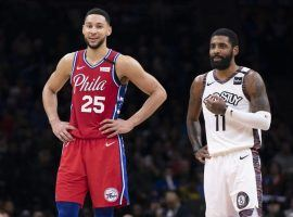 Ben Simmons from the Philadelphia 76ers and Kyrie Irving of the Brooklyn Nets are still fighting for the #1 seed in the final weekend of the regular season. (Image: Miller Stevens/Getty)