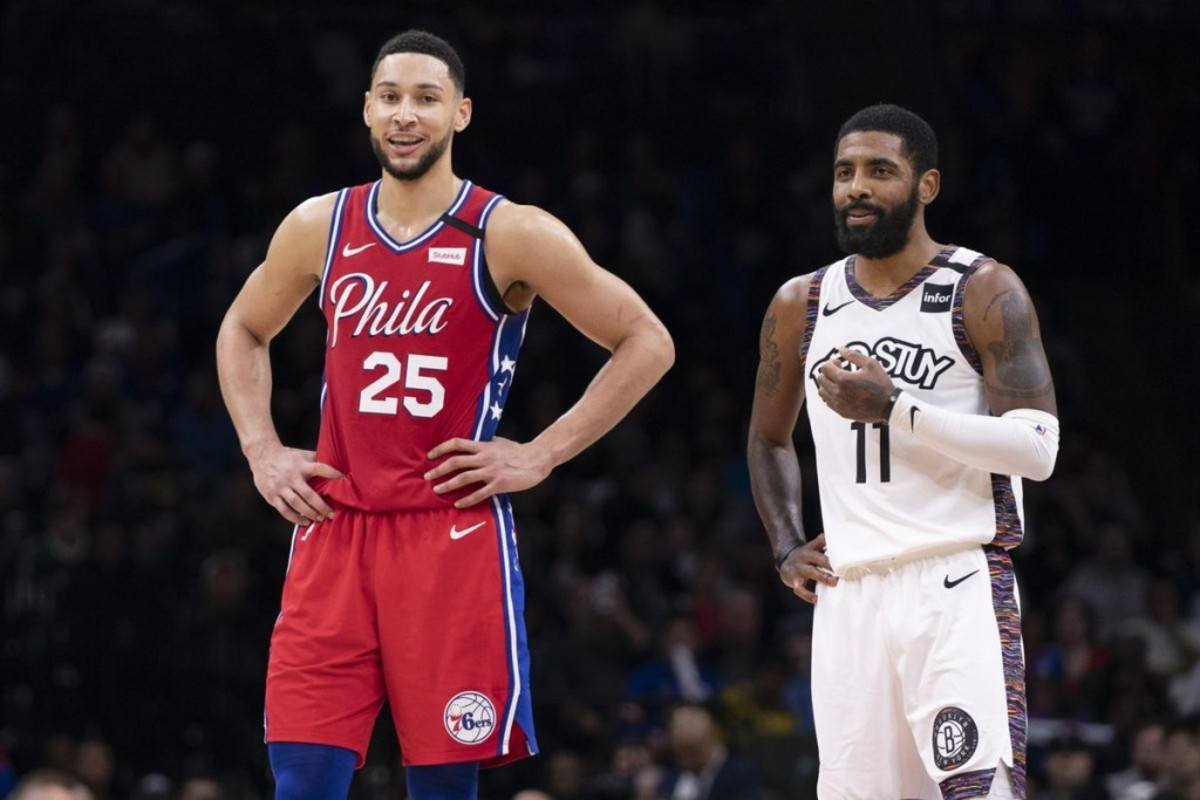 Unggulan nomor satu Philadelphia 76ers Brooklyn Nets Ben Simmons Kyrie Irving