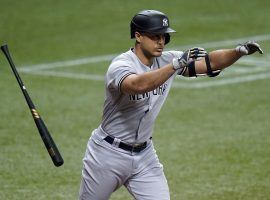 Just as he started cooking at the plate with nine home runs, New York Yankees DH Giancarlo Stanton will miss time with a quad injury. (Image: Porter Lambert/Getty)