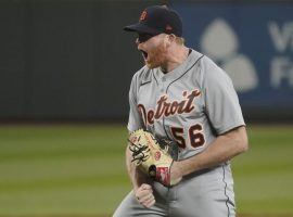 Spencer Turnbull threw a no-hitter against the Seattle Mariners on Tuesday night, the fifth no-hitter of the young MLB season. (Ted S. Warren/AP)