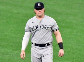 Luke Voit appeared in his first game with the New York Yankees this season after missing the start of the season recovering from knee surgery. (Image: AP)
