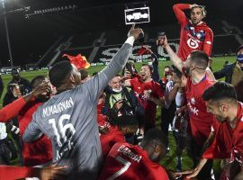 Lille are the surprise Ligue 1 champions in 2021. (Image: Twitter / @losclive)