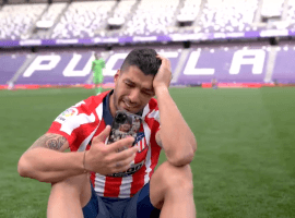 An emotional Luis Suarez was left in tears after Atletico Madrid won the Spanish La Liga title on Saturday. (Image: Twitter / @LaLiga )