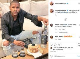 """Floyd Mayweather may be """"retired"""" from professional boxing, but he's still making a pretty penny as a social media pitchman. (Image: Instagram/floydmayweather)"""