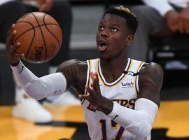 The LA Lakers continue to struggle with health issues. Guard Dennis Schroder is the latest member of the Lakers to miss time and he's out with COVID-19. (Image: Jayne Kamin-Oncea/USA Today Sports)