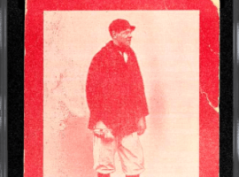 This 1914 Baltimore News minor league card of Babe Ruth just set a new sales record of $6 million. (Image: Collectable)