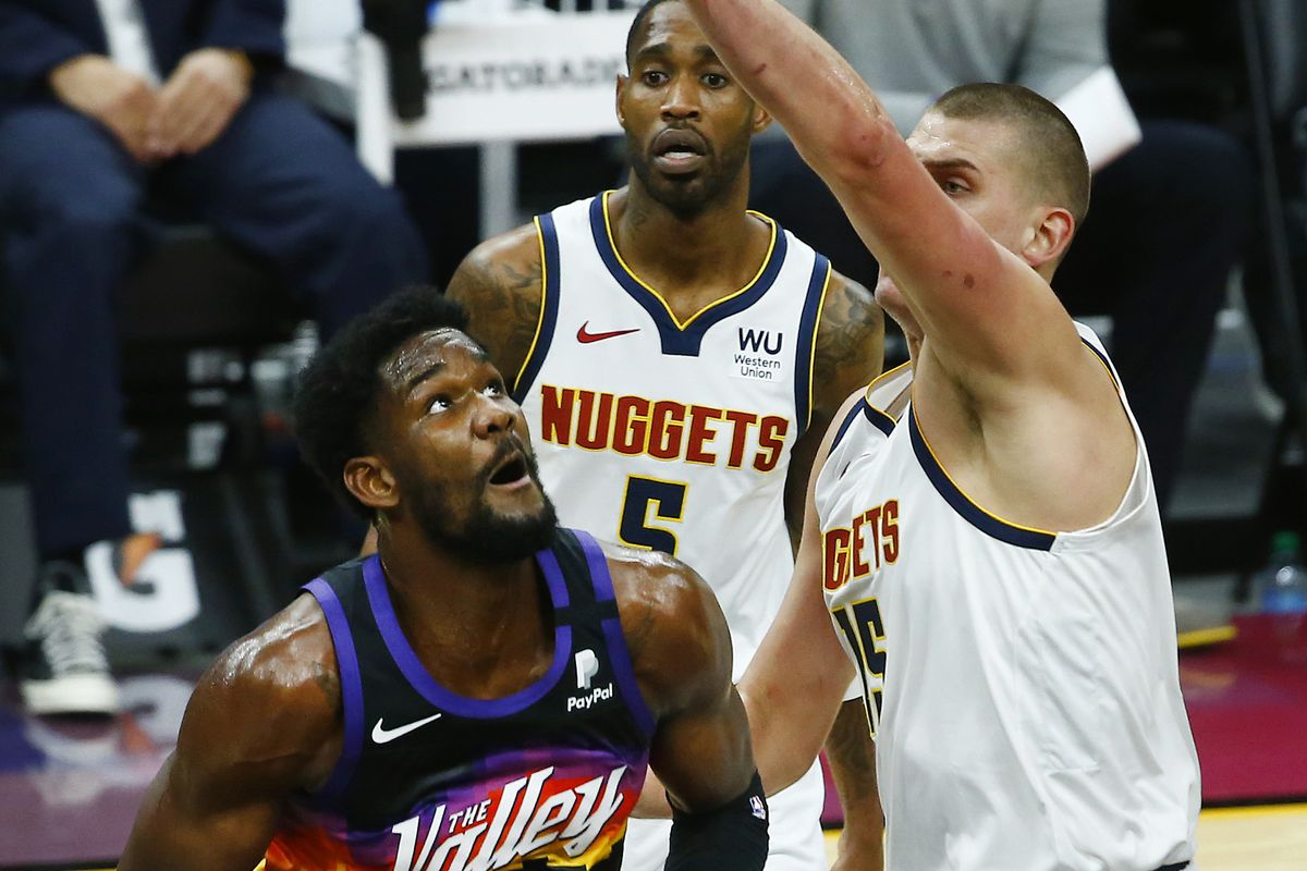 Deandre Ayton Phoenix Suns Denver Nuggets NBA Playoffs series Nikola Jokic