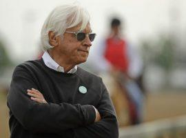 Hall of Fame trainer Bob Baffert doubles as the face of his sport. His face won't be around Churchill Downs the next two years after that track suspended him for two years. (Image: AP Photo)