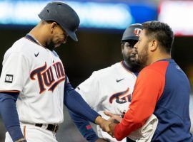 Byron Buxton (left) will head back to the injured list just days after his last stint ended after fracturing his left hand during Monday's game. (Image: Carlos Gonzalez/AP)