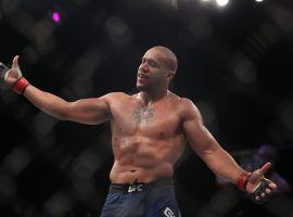 The undefeated Ciryl Gane (pictured) will take on Alexander Volkov at UFC Fight Night 190 on Saturday for a potential heavyweight title shot. (Image: Paul Miller/USA Today Sports)