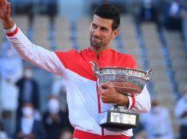 Novak Djokovic came back from two sets down to beat Stefanos Tsitsipas in the 2021 French Open final. (Image: Twitter/RolandGarros)