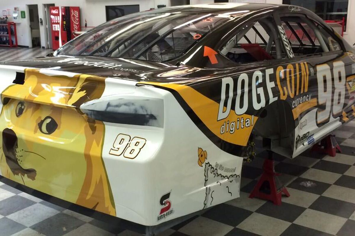 Dogecoin became NASCAR's first cryptocurrency sponsor in 2014