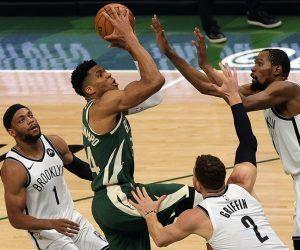 Brooklyn Nets Greek Freak Milwaukee Bucks Game 6 NBA Playoffs Kevin Durant