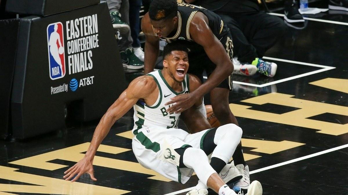 Greek Freak Injury Milwaukee Bucks Game 4 Atlanta Hawks lutut